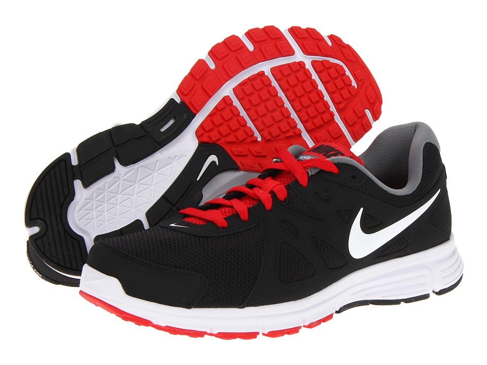 Nike - Revolution 2 (Black/Varsity Red/Cool Grey/White) Men