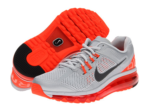 Nike Air Max + 2013 (Pure Platinum/Total Crimson/Wolf Grey/Dark Grey) Women's Running Shoes