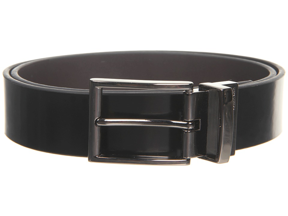 Calvin Klein - 35MM Reversible Flat Belt (Black/Brown) Men's Belts