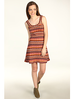 SALE! $44.8 - Save $83 on Free People Fair Isle Fit and Flare Dress (Passion Fruit Combo) Apparel - 65.00% OFF $128.00