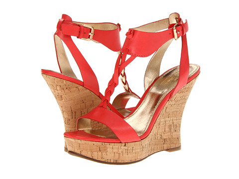 Belle by Sigerson Morrison Bela (Coral Red Leather) Women's Wedge Shoes