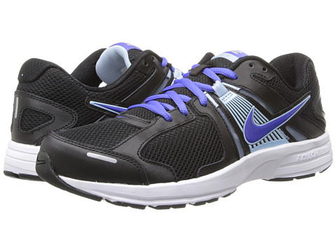 Nike - Dart 10 (Black/Ice Blue/Metallic Silver/Violet Force) Women's Running Shoes