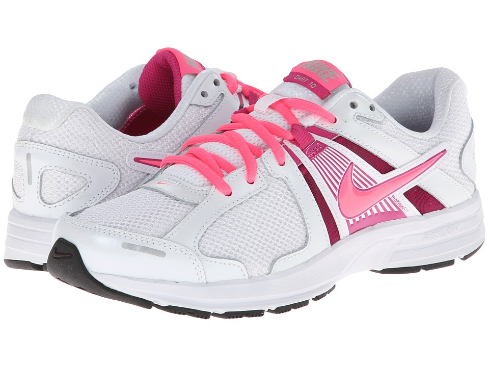 Nike - Dart 10 (White/Fusion Pink/Metallic Silver/Digital Pink) Women's Running Shoes
