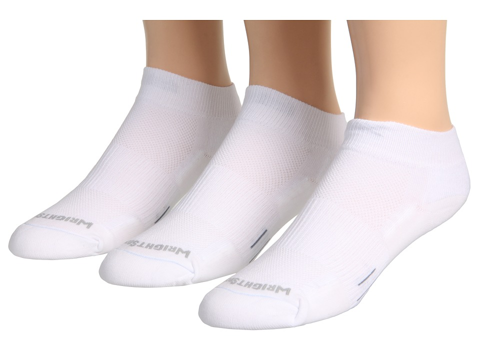 Wrightsock - DL FUEL Lo 3-Pair (White/White) Low Cut Socks Shoes