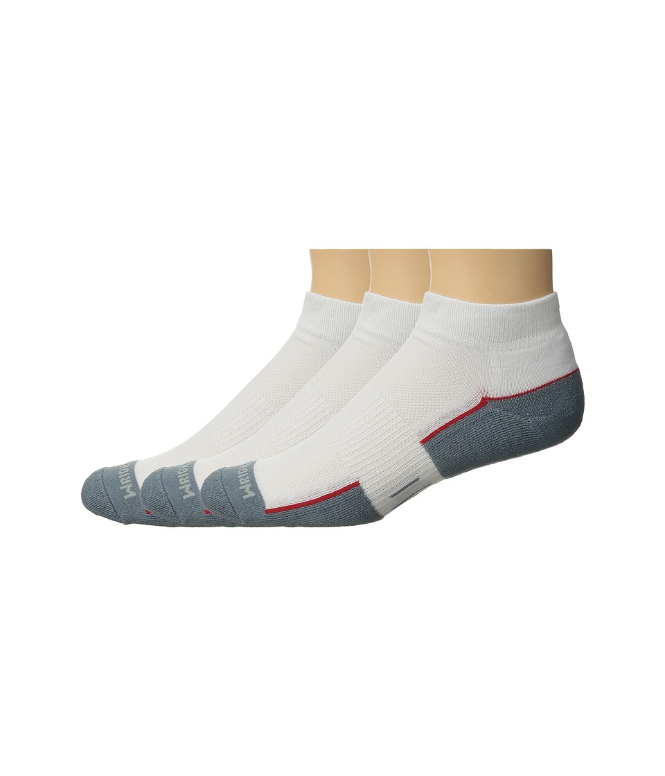 Wrightsock - DL FUEL Lo 3-Pair (White/Grey) Low Cut Socks Shoes