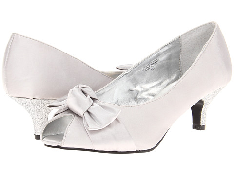 Bouquets - Raleigh (Silver Satin) Women's Bridal Shoes