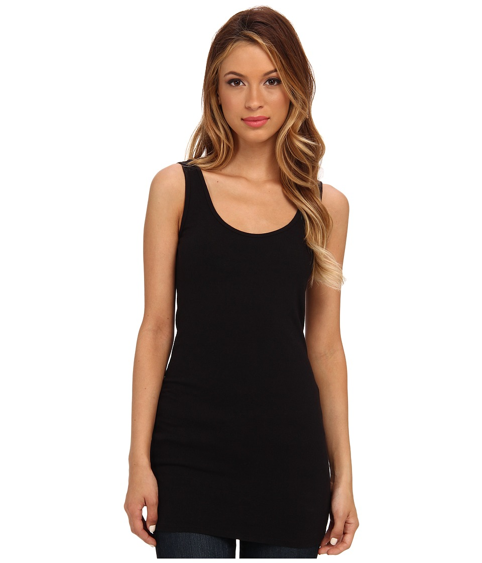 Three Dots - Tunic Tank (Black) Women's Sleeveless