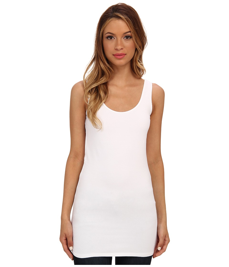 Three Dots - Tunic Tank (White) Women's Sleeveless