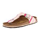 Birkenstock - Gizeh Papillio by Birkenstock (Pink Stripe Canvas) - Footwear