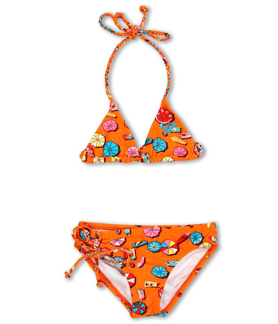 Roxy Kids Rustic Roamer Braided Tiki Tri Set Girls Swimwear Sets (Orange)