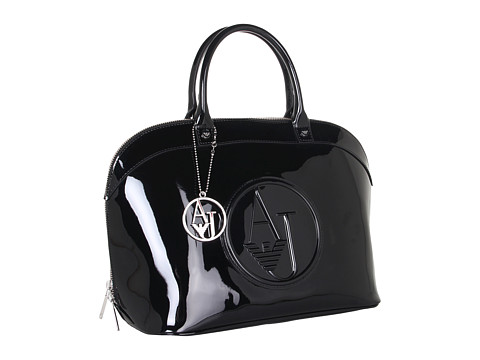 Armani Jeans - Elbow Satchel (Black) Satchel Handbags