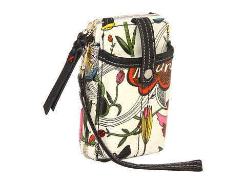 Sakroots - Artist Circle Smartphone Zip Wristlet (White Peace) Cross Body Handbags