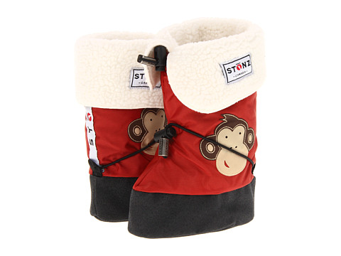 Stonz - Baby Booties Linerz (Toddler/Little Kid) (Monkey - Brick Red) Kids Shoes