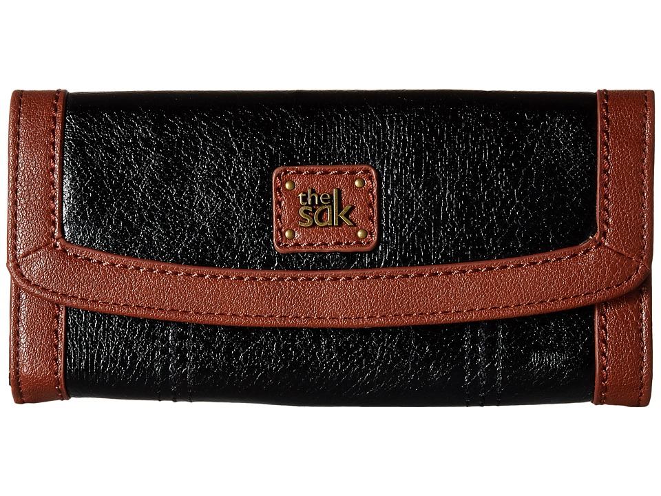 The Sak - Iris Flap Wallet (Black Onyx) Wallet Handbags