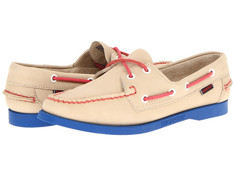 Sebago Docksides (Ivory/Blue) Women's Lace up casual Shoes