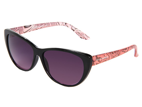 Steve Madden - S5295 (Black/Pink) Plastic Frame Fashion Sunglasses