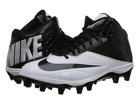 Nike - Lunar Code Pro 3/4 TD (Black/White/Anthracite) Men's Cleated Shoes