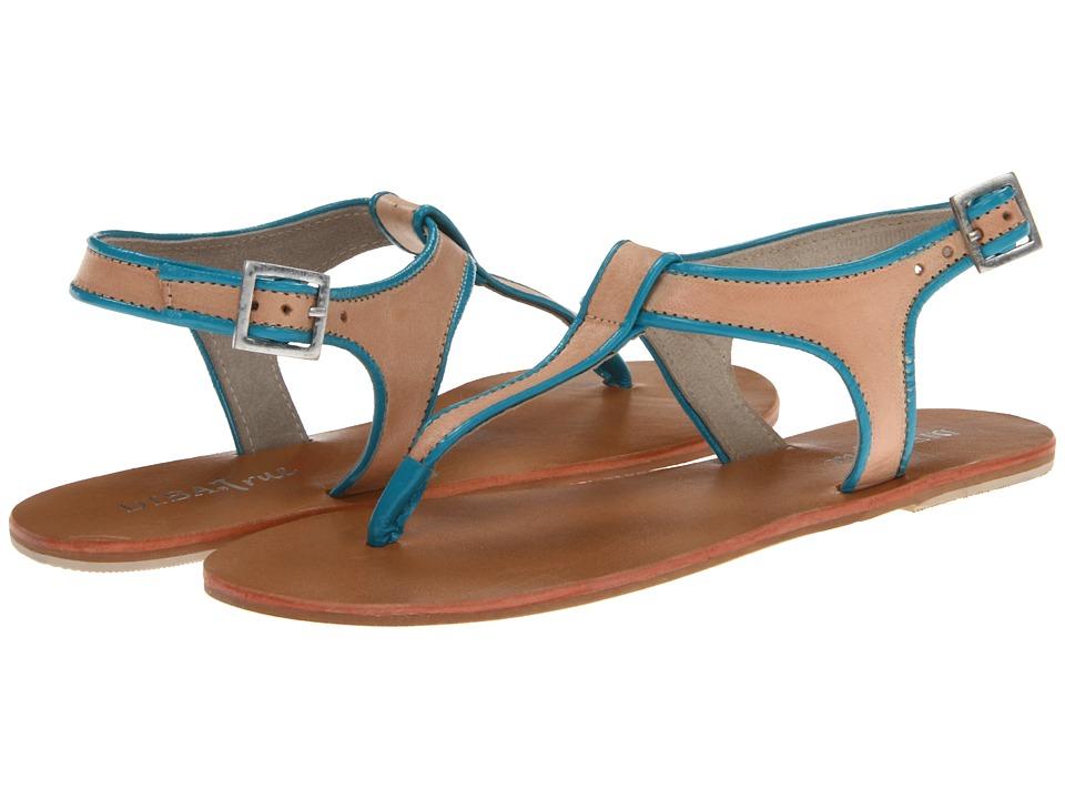 Diba - Ana Stasia (Nude/Turquoise) Women's Sandals