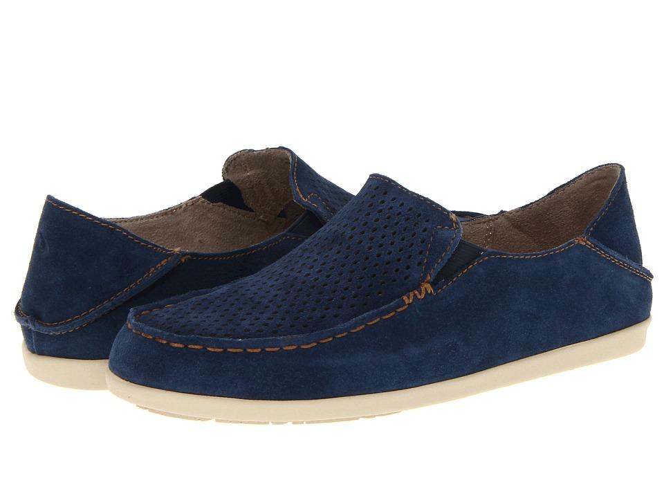 OluKai - Nohea Perf W (Navy/Honey) Women's Slip on Shoes