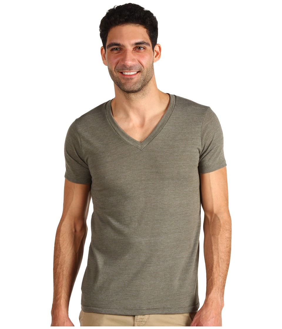 Alternative - Boss V-Neck Tee (Eco True Military) Men's Short Sleeve Pullover