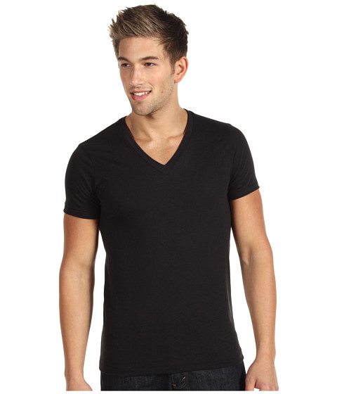 Alternative - Boss V-Neck Tee (Eco True Black) Men