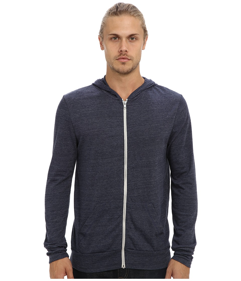 Alternative - L/S Zip Hoodie (Eco True Navy) Men's Sweatshirt