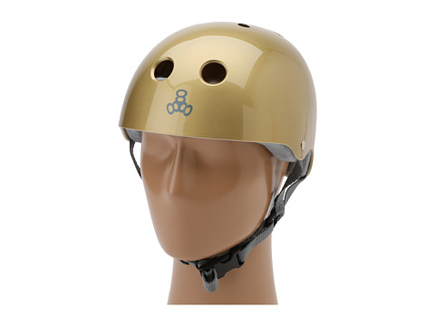 Triple Eight - Brainsaver Multi-Impact Helmet w/ Sweatsaver Liner (Gold Metallic) Skateboard Helmet