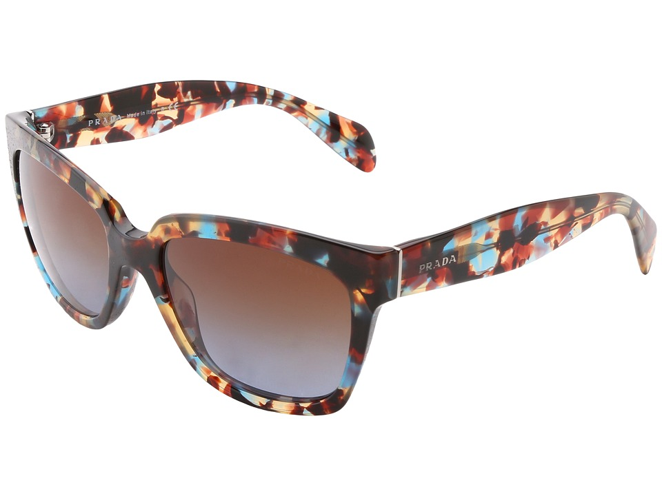 Prada - PR 07PS (Havana Spotted Blue) Fashion Sunglasses