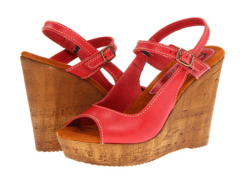 Sbicca Alexi (Red) Women's Wedge Shoes