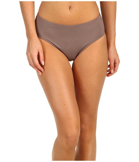 Calvin Klein - Solid High Waist Bikini Bottom (Iron) Women
