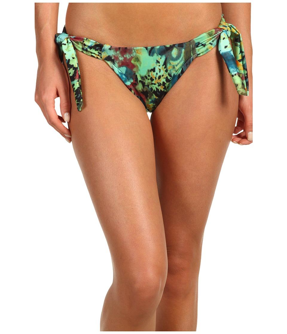 Badgley Mischka - Twilight Shirred Side Tie Brief (Black) Women's Swimwear