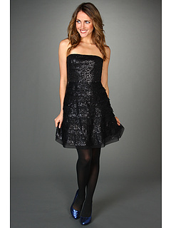 SALE! $160.99 - Save $207 on BCBGMAXAZRIA Seri Strapless Sequin Cocktail Dress (Black) Apparel - 56.25% OFF $368.00