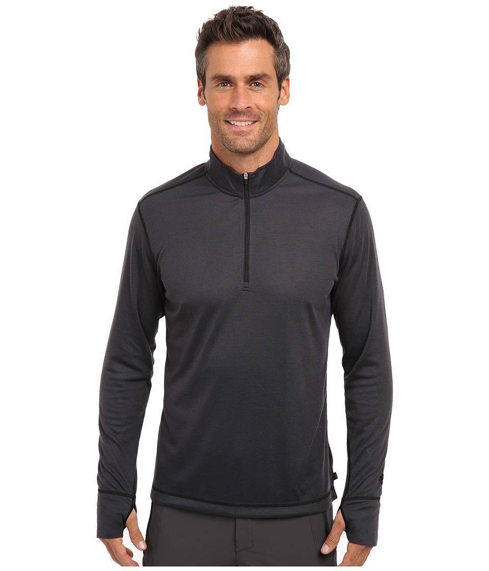 Hot Chillys Geo Pro Zip-T (Black Heather) Men's Sweatshirt