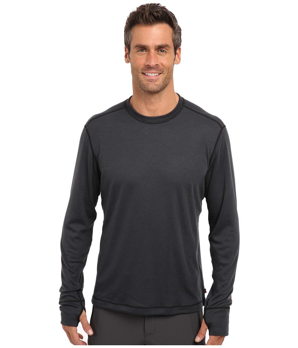 Hot Chillys Geo Pro Crewneck (Black Heather) Men's T Shirt