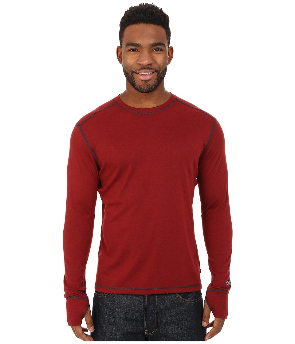 Hot Chillys - Geo Pro Crewneck (Ember Heather) Men's T Shirt