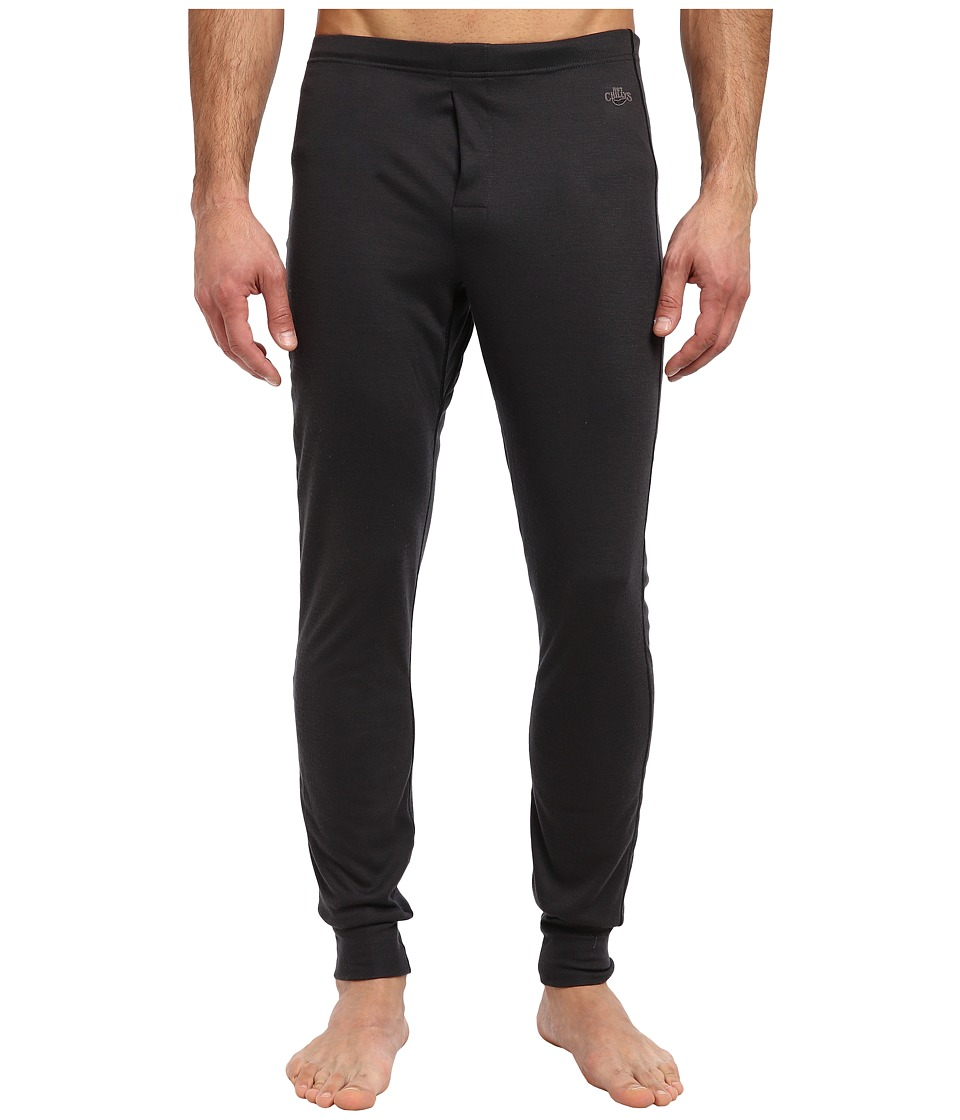 Hot Chillys - Geo Pro Fly Bottom (Black Heather) Men's Casual Pants
