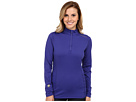 Hot Chillys Micro-Elite Chamois 8K Solid Zip-T (Blueberry)