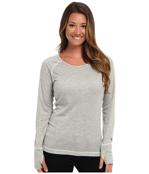Hot Chillys - Geo Pro Scoopneck (Natural Heather) Women's Long Sleeve Pullover
