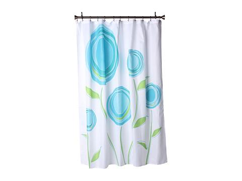 InterDesign Marigold Shower Curtain (Blue/Green) Bath Towels