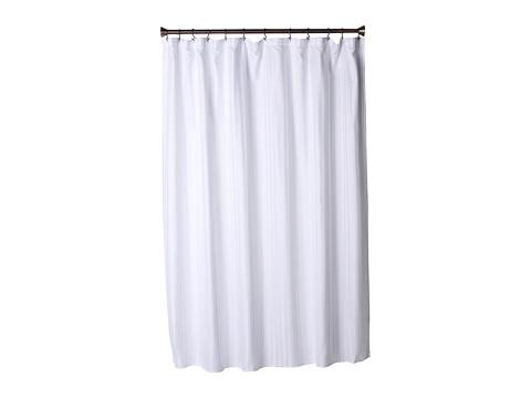 InterDesign Satin Stripe Shower Curtain (White) Bath Towels