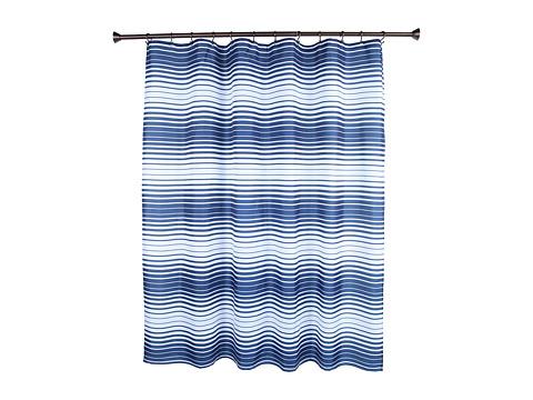 InterDesign Enzo Shower Curtain (Navy/White) Bath Towels
