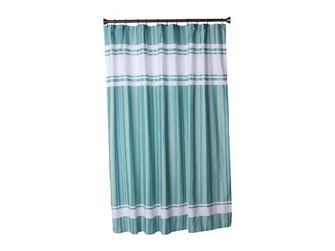 InterDesign Hudson Stripe Shower Curtain (Seaglass) Bath Towels