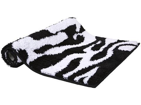 InterDesign Stripz Rug (Black/White) Bath Towels