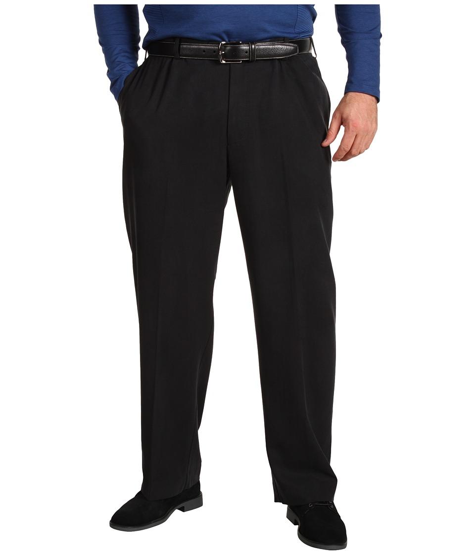 Tommy Bahama Big & Tall Big Tall Flying Fishbone Flat Front Pant Mens Clothing (Black)