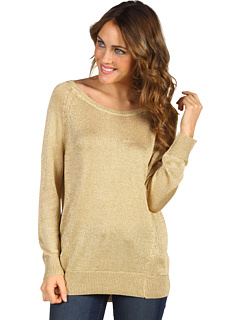 SALE! $59.99 - Save $89 on Vince Camuto High Low Lurex Sweater (Gold) Apparel - 59.74% OFF $149.00