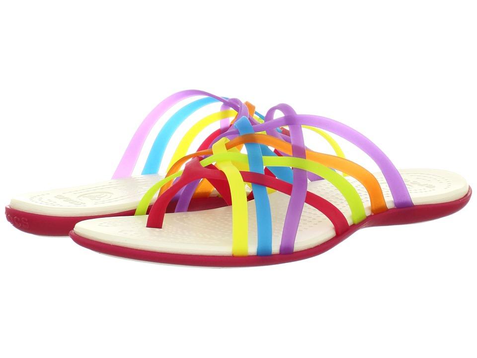 285e8b068b63 Crocs Huarache Flip Flop Womens Sandals (Multi) on PopScreen