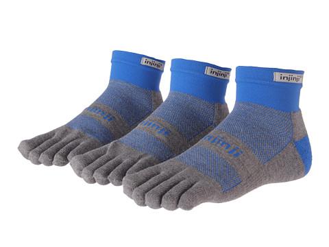 Injinji - Run Midweight Mini-Crew Coolmax 3 Pair Pack (Mariner Blue) Crew Cut Socks Shoes