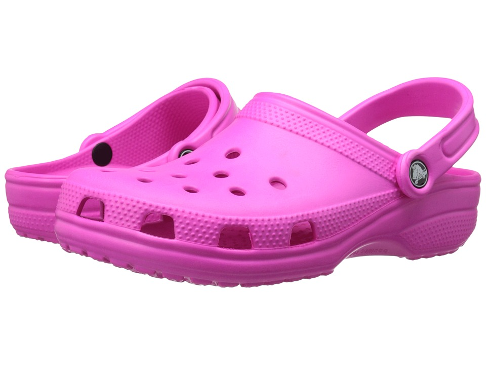 Crocs - Classic Clog (Neon Magenta) Clog Shoes