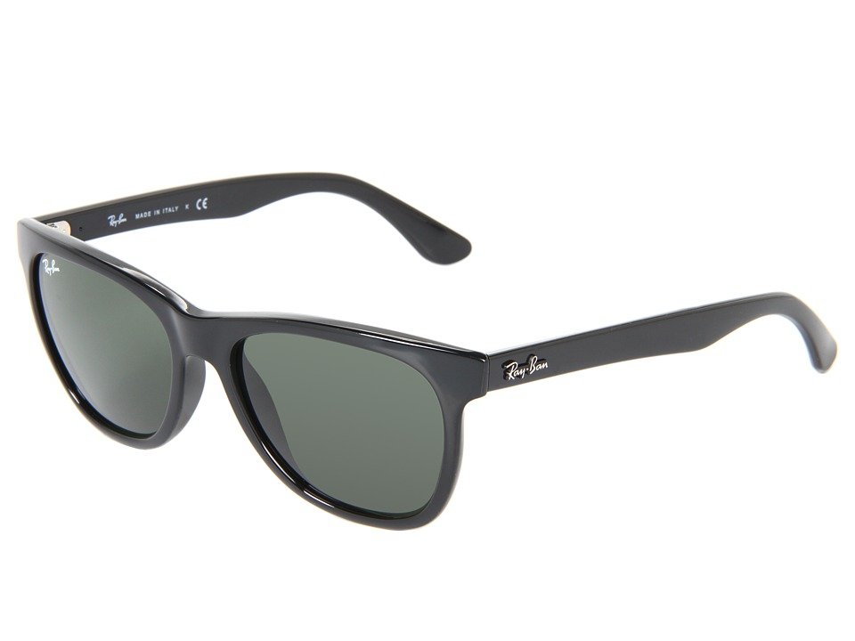 Ray-Ban - RB4184 High Street Square 54mm (Black/Green) Fashion Sunglasses