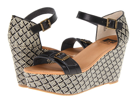 BC Footwear - Salt and Pepper (Black) Women's Wedge Shoes
